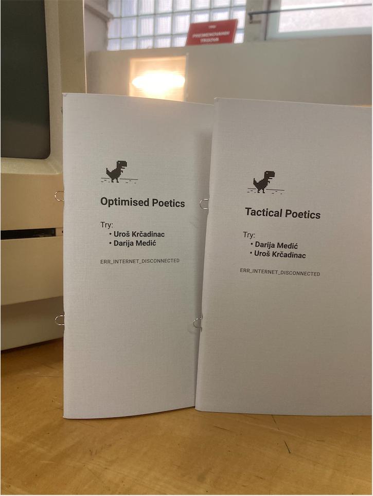 Darija Medić & Uroš Krčadinac • Tactical Poetics / Optimised Poetics